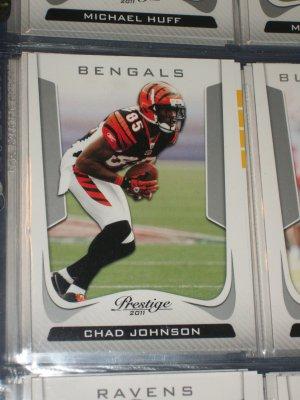 Chad Johnson 2011 Panini Prestige Football Card