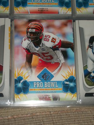 "Chad Ochocinco 2008 UD SP ""Pro Bowl Performers"" football card"