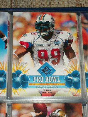 """Jason Taylor 2008 UD SP """"Pro Bowl Performers"""" Football Card"""
