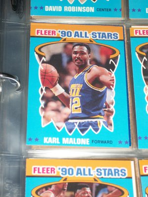 Karl Malone 1990 Fleer All Star Basketball Card