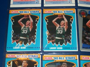 LARRY Bird 1990 Fleer All-Star Basketball Card