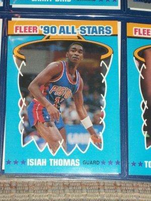 Isiah Thomas 1990 Fleer All-Star Basketball Card