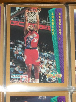 "Charles Barkley 92-93 Fleer ""Slam Dunk"" Basketball Card"
