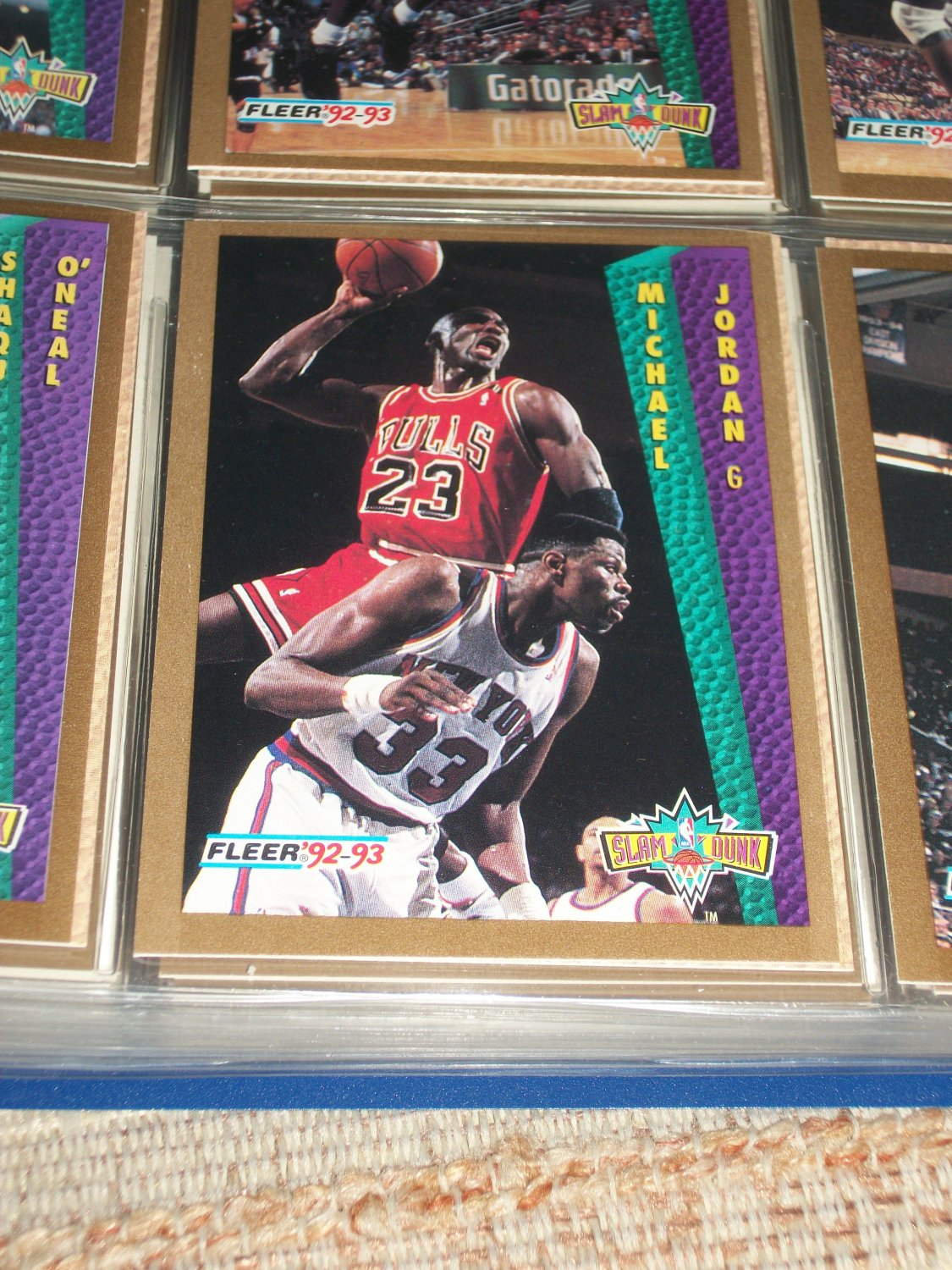 "How Much Is Tax >> Michael Jordan 92-93 Fleer ""Slam Dunk"" Basketball Card"