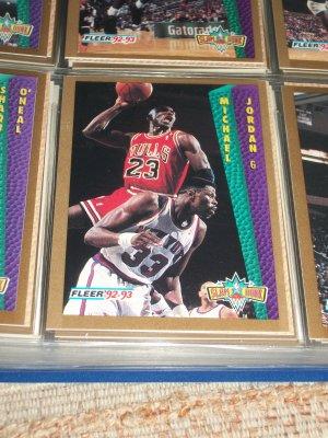 "Michael Jordan 92-93 Fleer ""Slam Dunk"" Basketball Card"