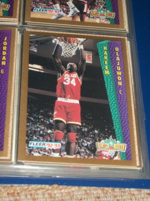 "Hakeem Olajuwon 92-93 Fleer ""Slam Dunk"" Basketball Card"