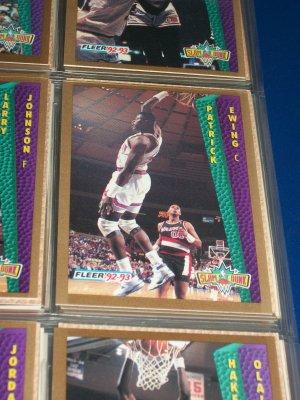 "Patrick Ewing 92-93 Fleer ""Slam Dunk"" Basketball Cards"