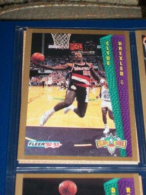 "Clyde Drexler 92-93 Fleer ""Slam Dunk"" Basketball Card"