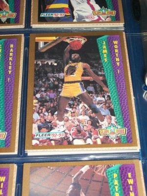 "James Worthy 92-93 Fleer ""Slam Dunk"" Basketball Cards"