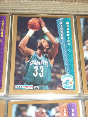Alonzo Mourning 92-93 Fleer Basketball Card