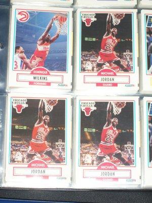 Michael Jordan 1990 fleer Basketball Card