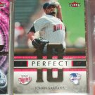 "Johan Santana 2007 RARE Fleer ""Perfect 10"" Insert Baseball Card"