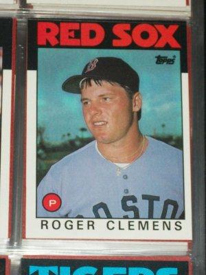 Roger Clemens 1986 Topps Baseball Card