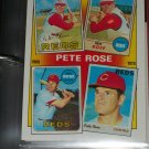 "Peter Rose RARE 1986 insert- The Rose Years ""67/68/69/70"" baseball card"