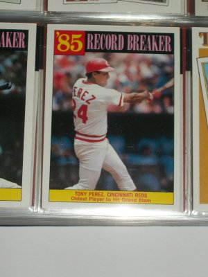 Tony Perez Rare 85 Record Breaker Oldest Player To Hit Grand