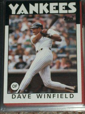Dave Winfield 1986 Topps Baseball cards