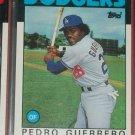 Pedro Guerrero 1986 Topps Baseball Card