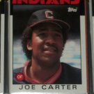 Joe Carter 1986 Topps Baseball Card