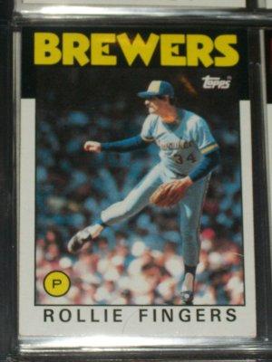 Rollie Fingers 1986 Topps Baseball Card