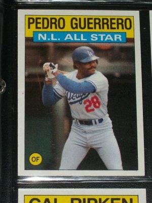 Pedro Guerrero 1986 Topps Nl All Star Baseball Card