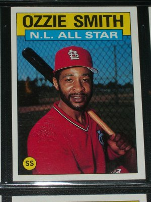 Ozzie Smith 1986 Topps Nl All Star Baseball Card