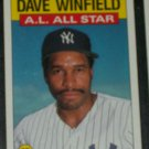 Dave Winfield 1986 Topps AL ALL-STAR BASEBALL CARD