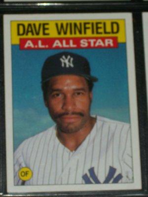Dave Winfield 1986 Topps Al All Star Baseball Card
