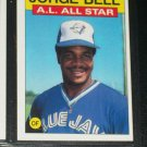 Jorge Bell 1986 Topps AL ALL-STAR BASEBALL CARD