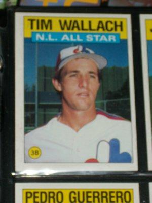 Tim Wallach 1986 Topps NL ALL-STAR BASEBALL CARD