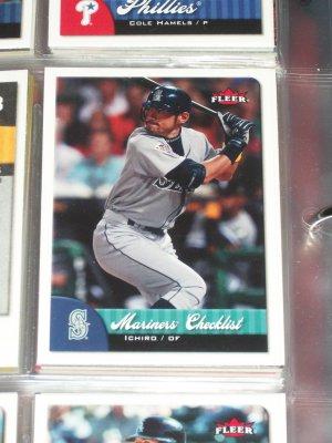 2007 Fleer Mariners Checklist- Ichiro Baseball Card