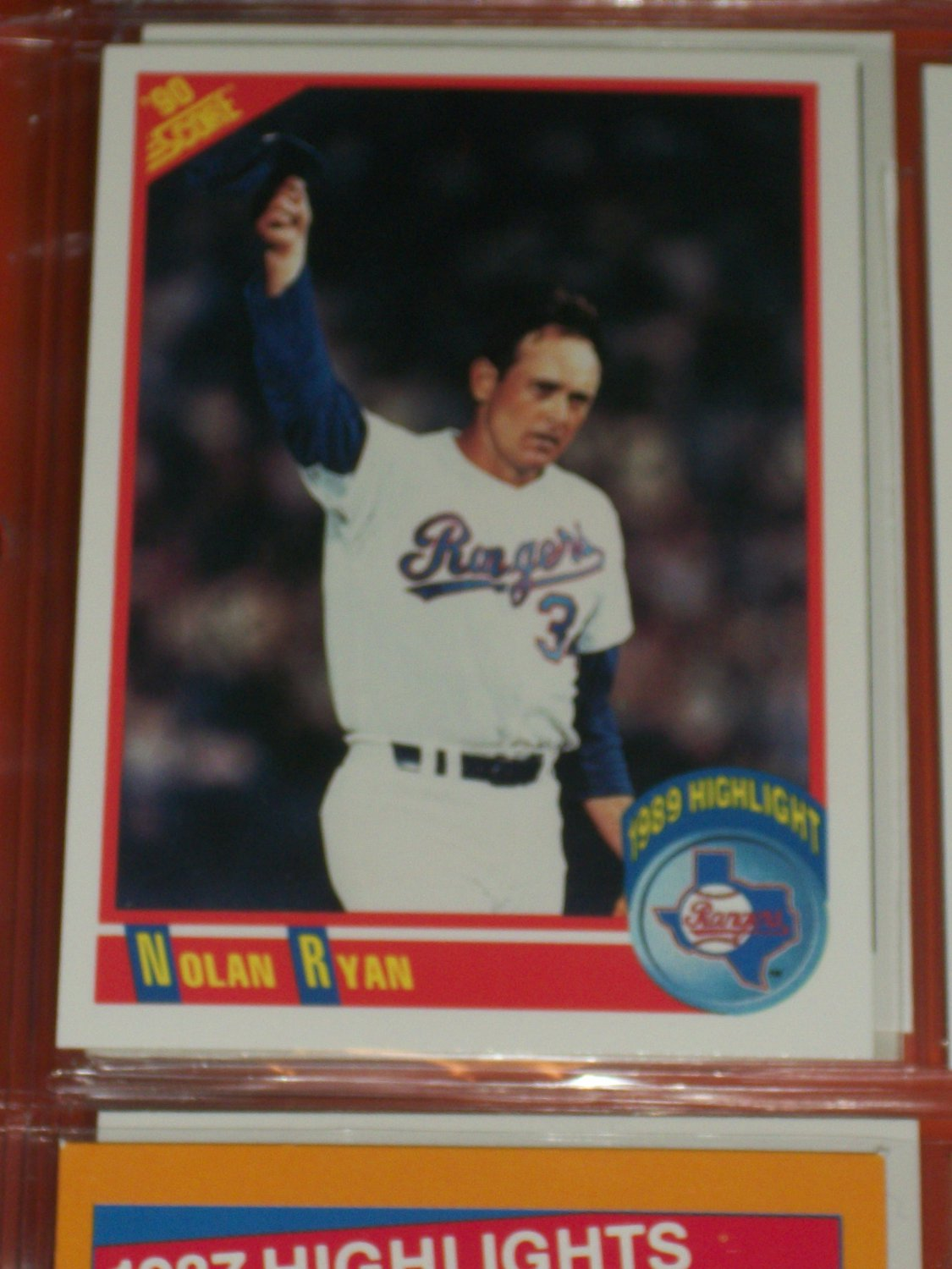"""How To Figure Out Sales Tax >> Nolan Ryan 1990 Score """"1989 Highlights"""" Baseball Card"""