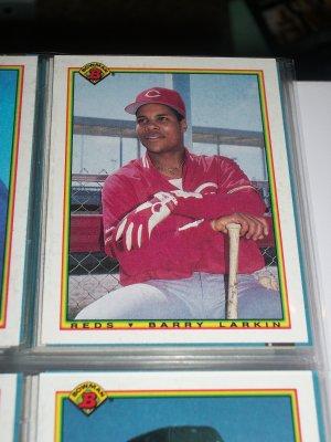 Barry Larkin 1990 Bowman Baseball Card