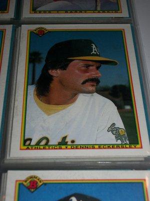 Dennis Eckersley 1990 Bowman Baseball Card