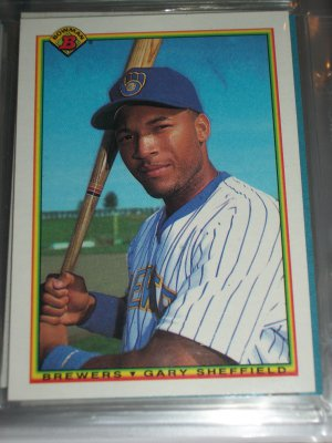 Gary Sheffield 1990 Bowman baseball card