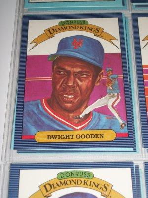 """Doc Gooden 1986 """"Donruss Diamond Kings"""" Insert Baseball Card"""