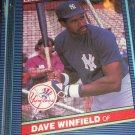 Dave Winfield 1986 Leaf baseball card