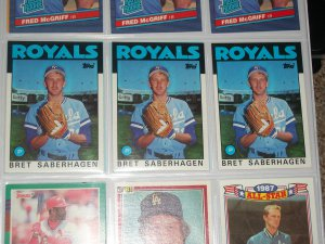Brett Saberhagan 1986 Topps Baseball Card