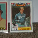 Bret Saberhagen 1988 Topps AL All-Star baseball card