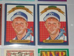 "Bret Saberhagen 1986 Donruss ""Diamond Kings"" baseball card"
