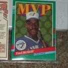 Fred McGriff 1991 Donruss MVP Insert Baseball Card
