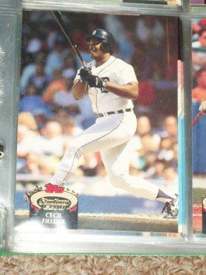 Cecil Fielder 1992 Topps Stadium Club baseball card