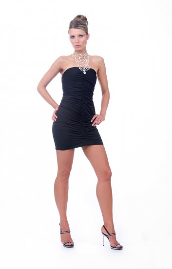 Bejeweled necklace halter dress by Cote-A-Cote Style # 2219