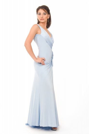 Pretty in Ice Blue gown by Cote-A-Cote Style# 2212