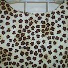 Vintage Sag Harbor Petite Animal Hippie ~ Boho ~ Sheath Dress Size 10 P 154-124