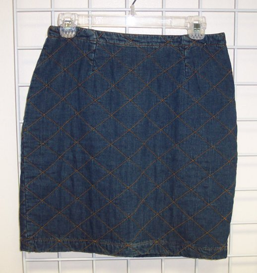 DKNY Denim Quilted Skirt Size 8 118-80 locw21