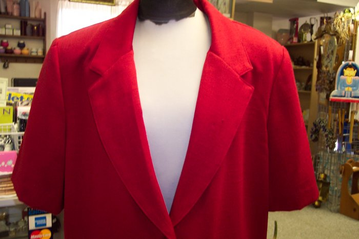 Studio Works Blouse Blazer Jacket Top Size 16 278-22 Once Is Never Enough
