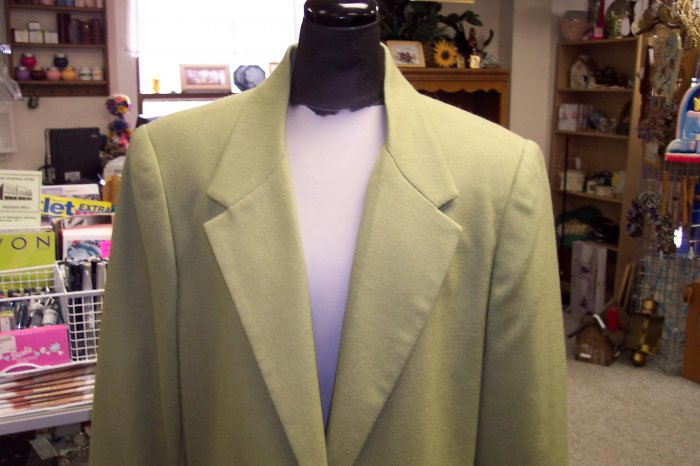 NWT Sag Harbor Fern Single Breasted Blazer Jacket Size 14  101-436 Once Is Never Enough