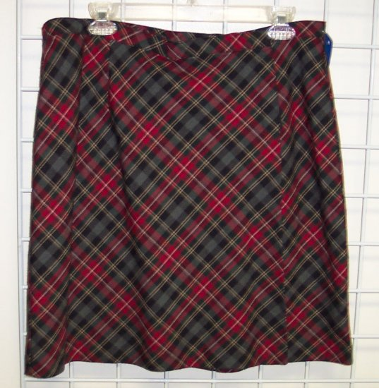 Willow Bay Mini Skirt Red Plaid School Girl Size 16 192-414 Once Is Never Enough
