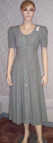 Vintage All That Jazz Peasant ~ Empire Waist ~ Romantic Dress Size 7-8 7/8 109-353h