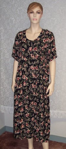 Katy D. Kathryn Deene Floral Print Church Career Dress Size 14 101-578 Once Is Never Enough
